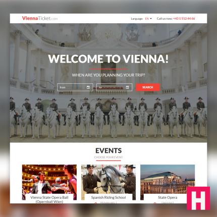 Webdesign für viennaticket.com