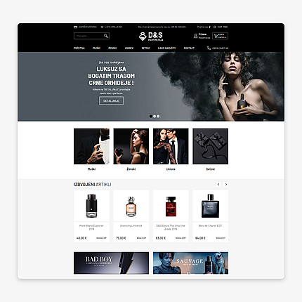 Webshop for Perfumery D&S